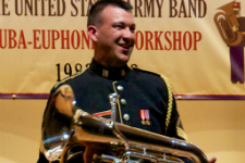 Chris Buckley euphonium Army Band